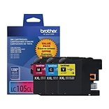 Brother LC 105CL Color Combination Ink Cartridge, Extra High Yield, 3/Pack (LC1053PKS)