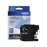 Brother LC 103BK Black Ink Cartridge, High Yield