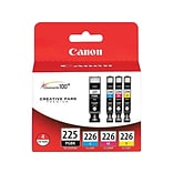 Canon PGI-225/CLI-226 Black/Color Ink Cartridges, 4/Pack (4530B008)