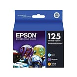 Epson 125 Color Combination Ink Cartridges, Standard, 3/Pack (T125520-S)