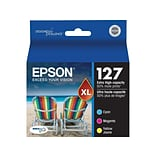 Epson 127 Color Combination Ink Cartridges, Extra High Capacity, 3/Pack (T127520-S)