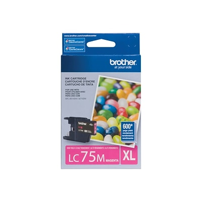 Brother LC 75 Magenta Ink Cartridge, High Yield (LC75MS)