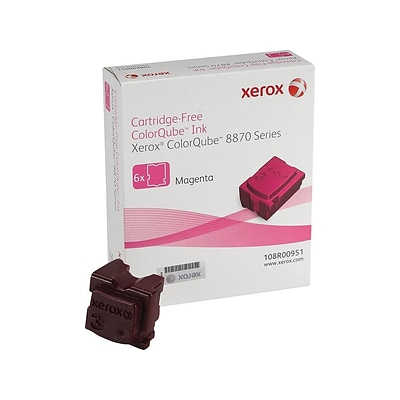 Xerox 108R00951 Magenta Ink Stick, Standard Yield 6/Pack