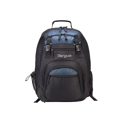 Targus Laptop Backpack, Solid, Black/Blue (TXL617)