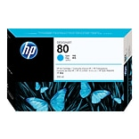 HP 80 Cyan Standard Yield Ink Cartridge (C4846A)