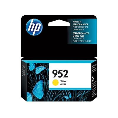 HP 952 Yellow Ink Cartridge, Standard (L0S55AN#140)