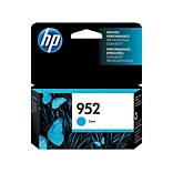 HP 952 Cyan Ink Cartridge, Standard (L0S49AN#140)