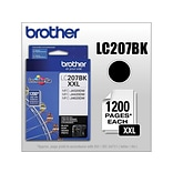 Brother LC 207 Black Ink Cartridge, Extra High Yield (LC-207BKS)