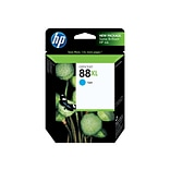 HP 88XL Cyan Ink Cartridge, High Yield (C9391AN#140)