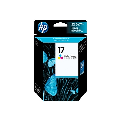 HP 17 Color Combination Ink Cartridge, Standard (C6625A)
