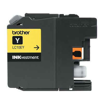 Brother LC 10 Yellow Ink Cartridge, Extra High Yield (LC-10EY)