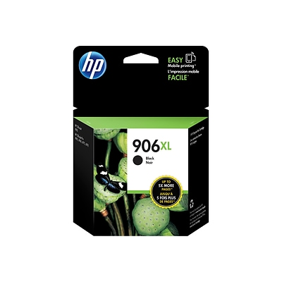 HP 906XL Black Ink Cartridge, High Yield (T6M18AN#140)
