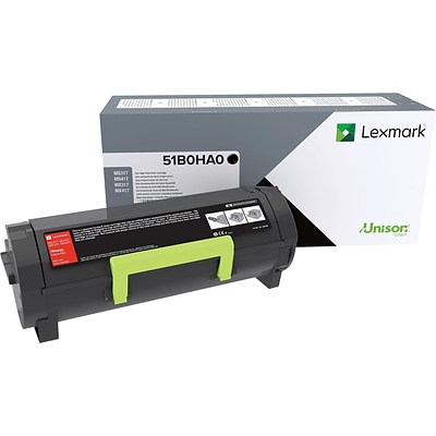 Lexmark 51B0HA0 Black Toner Cartridge, High Yield