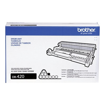 Brother DR 420 Black Drum Cartridge, Standard