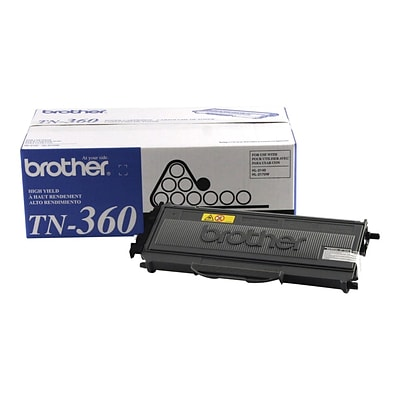 Brother TN-360 Black Toner Cartridge, High Yield