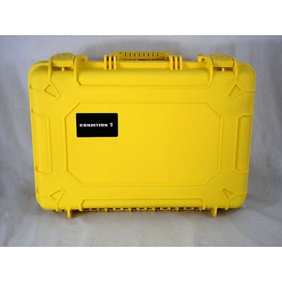 Condition 1 Airtight/Watertight Yellow Hard Plastic Protective Case (100801)