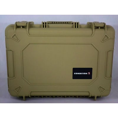 Condition 1 Airtight/Watertight Tan Hard Plastic Protective Case (100801)