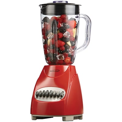 Brentwood JB-920R 12-speed Blender With Plastic Jar (Red)