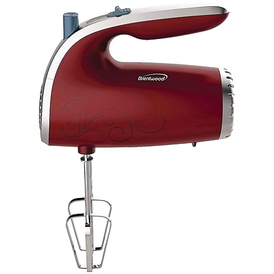 Brentwood HM-48R 5-speed Hand Mixer (red)