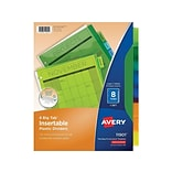 Avery Big Tab Insertable Plastic Dividers, 8-Tab, Assorted Colors (11901)