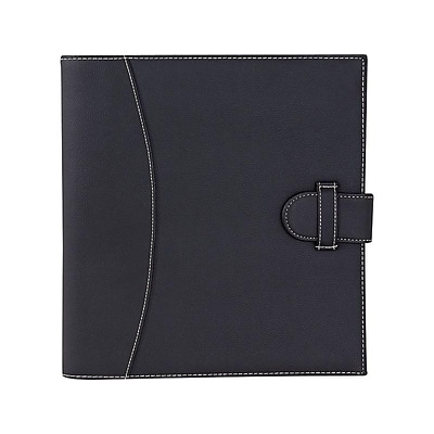 Its Academic Faux Leather 1 3-Ring Legal Binder, Black (92875)