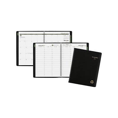 2019 AT-A-GLANCE 10.88H x 8.25W Appointment Book, Recycled, Black (70950G0519)