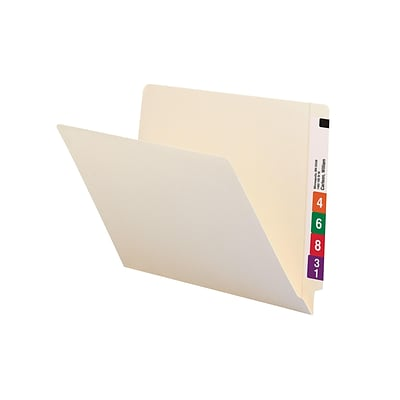 Smead End-Tab File Folders, Shelf-Master Reinforced Straight-Cut Tab, Letter Size, Manila, 100/Box (24111)