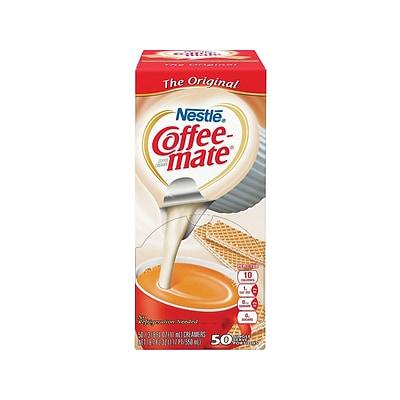 Coffee Mate Original Liquid Creamer, 0.38 Oz., 50/Box (35110)   Quill.com