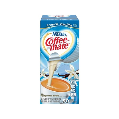 Coffee-mate French Vanilla Liquid Creamer, 0.38 Oz., 50/Box (35170)