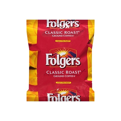 Folgers Classic Roast Filter Packs Ground Coffee, Medium Roast, 40/Carton (PRO22142)