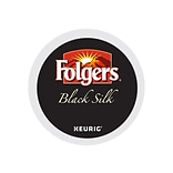 Folgers Black Silk Coffee, Keurig® K-Cup® Pods, Dark Roast, 24/Box (6662)