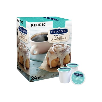 Cinnabon Classic Cinnamon Roll Coffee, Keurig® K-Cup® Pods, Light Roast, 24/Box (6305)