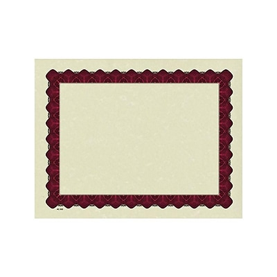 Great Papers Metallic 8.5 x 11 Certificates, Beige/Red, 100/Pack (934100)