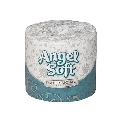 Angel Soft Professional Series Standard Toilet Paper, 2-Ply, White, 450 Sheets/Roll, 80 Rolls/Carton (16880)