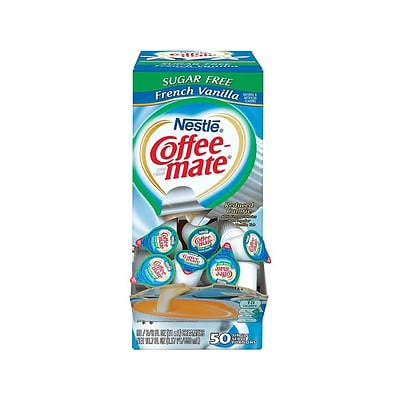 Coffee-mate Sugar-Free French Vanilla Liquid Creamer, 0.38 Oz., 50/Box (NES17570)