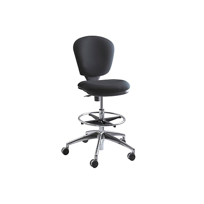 Safco Metro Extended-Height Acrylic Drafting Chair, Black (3442BL)