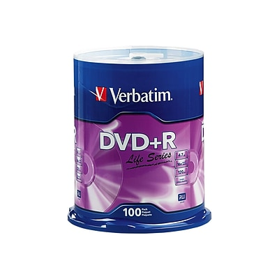 Verbatim Life Series (97175) 16x DVD+R, Gray, 100/Pack