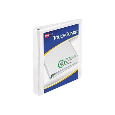Avery TouchGuard Durable 1 3-Ring View Binder, White (17141)