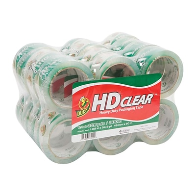 Duck HD Clear, Acrylic Packing Tape, 1.88 x 54.6 Yds., Clear, 24/Carton (393730)