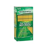 Ticonderoga The Worlds Best Pencil Wooden Pencils, No. 2 Soft Lead, 96/Pack (13872)