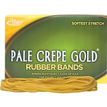 Alliance Pale Crepe Gold Multi-Purpose Rubber Bands, #117B, 1 lb. Box, 300/Box (21405)
