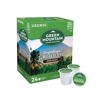 Green Mountain Sumatra Reserve Coffee, Keurig K-Cup Pods, Dark Roast, 24/Box (4060)