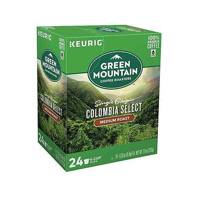 Green Mountain Colombia Select Coffee, Keurig K-Cup Pods, Medium Roast, 24/Box (6003)
