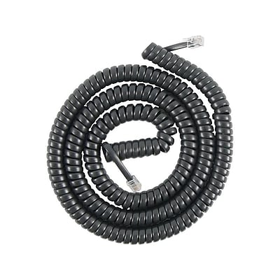 Power Gear 76139 25 Coiled Telephone Line Cord, Black