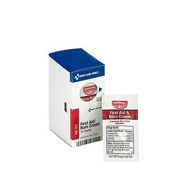 First Aid Only SmartCompliance 0.13% Benzalkonium Chloride Antiseptic Cream, 10/Box (FAE-7011)