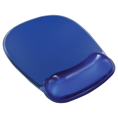 Staples Gel Mouse Pad/Wrist Rest Combo, Blue Crystal (18259)