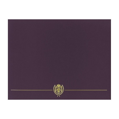 Great Papers Classic Crest 9.38 x 12 Certificate Covers, Plum, 5/Pack (903116)