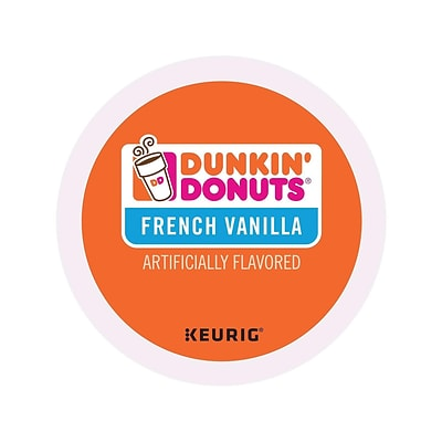 Dunkin Donuts French Vanilla Coffee, Keurig® K-Cup® Pods, Medium Roast, 24/Box (400847)