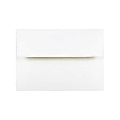 JAM Paper Gummed Booklet Envelopes, 7 1/4 x 5 1/4, Regular White, 100/Pack (73767C)