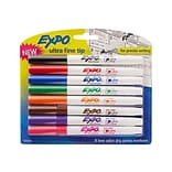 Expo Dry Erase Markers, Ultra Fine Point, Assorted, 8/Pack (1884309)